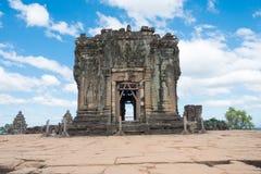 暹粒,柬埔寨- 2016年12月05日:Phnom Bakheng在吴哥 fa 库存图片