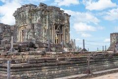 暹粒,柬埔寨- 2016年12月05日:Phnom Bakheng在吴哥 fa 库存照片