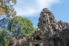 暹粒,柬埔寨- 2016年12月11日:Ta索马里兰在吴哥 著名喂 免版税图库摄影