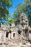 暹粒,柬埔寨- 2016年11月30日:Ta Prohm寺庙在吴哥 A 库存图片