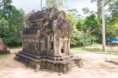 暹粒,柬埔寨- 2016年11月30日:Thommanon寺庙在吴哥 A 免版税图库摄影