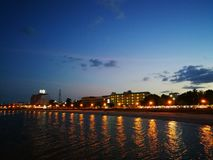 暹罗湾, prachubkirikhan 库存照片
