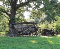 曩年的老农场设备 免版税库存图片