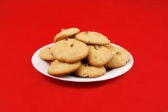 曲奇饼、家做用蜂蜜和核桃 免版税库存照片