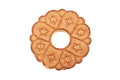 曲奇饼一来回白色 免版税库存照片