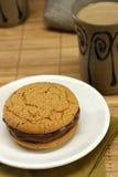 曲奇饼三明治 免版税库存照片