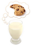 曲奇饼作牛奶 库存图片