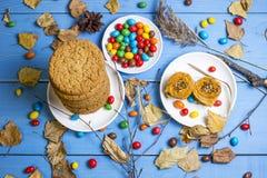 曲奇饼和其他甜点 库存照片
