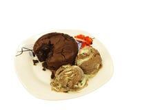 曲奇饼和冰 免版税库存照片