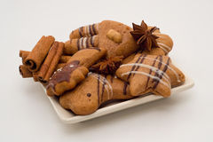 曲奇饼和香料的混合 免版税库存图片