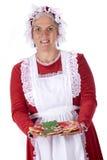 曲奇饼圣诞老人夫人 免版税库存照片
