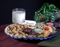 曲奇饼圣诞老人 免版税库存图片
