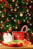 曲奇饼圣诞老人 免版税库存照片