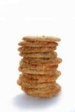 曲奇饼堆燕麦 库存照片