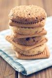 曲奇饼堆甜点 免版税库存图片