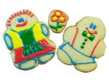 曲奇饼夫妇查出的糖 免版税库存图片