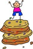 曲奇饼孩子 向量例证