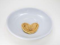 曲奇饼心形在白色 图库摄影