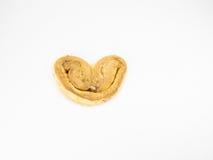 曲奇饼心形在白色 库存图片