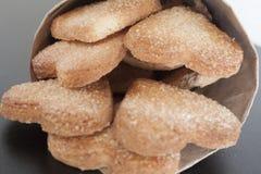 曲奇饼心脏甜点 库存图片