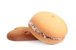 曲奇饼心脏背景 免版税库存照片