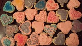 曲奇饼心脏 库存照片