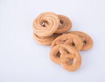 曲奇饼或手工制造被分类的曲奇饼在背景 库存照片