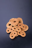 曲奇饼或手工制造被分类的曲奇饼在背景 免版税库存图片