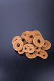 曲奇饼或手工制造被分类的曲奇饼在背景 图库摄影