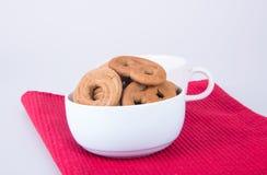 曲奇饼或被分类的曲奇饼在背景 库存图片