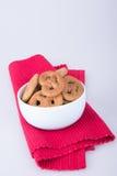 曲奇饼或被分类的曲奇饼在背景 免版税库存图片