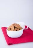 曲奇饼或被分类的曲奇饼在背景 库存照片