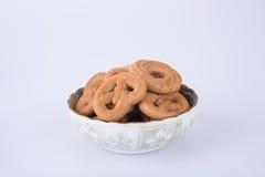 曲奇饼或被分类的曲奇饼在背景 图库摄影