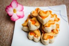 曲奇饼新加坡或腰果曲奇饼 库存照片
