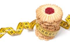 曲奇饼查出的评定的磁带塔白色 免版税库存图片
