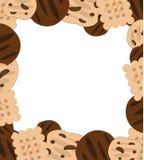 曲奇饼框架 库存图片