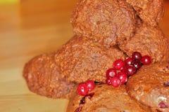 曲奇饼用莓果6 库存图片