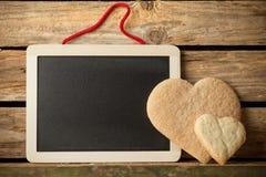曲奇饼的心脏。 库存图片