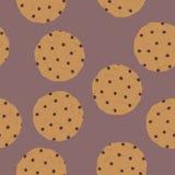 曲奇饼的无缝的样式 免版税图库摄影