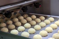 曲奇饼的生产 免版税库存图片