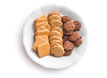 曲奇饼种类 库存图片