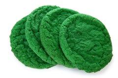 曲奇饼绿色糖 免版税库存图片