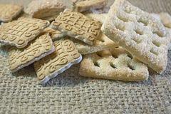 曲奇饼自创甜点 库存照片