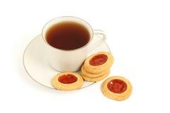 曲奇饼茶 免版税库存照片