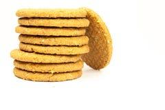 曲奇饼被堆积的全麦 免版税库存照片