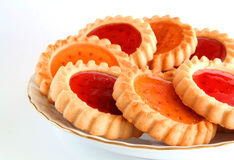 曲奇饼被装载的果冻 免版税库存图片