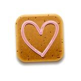 曲奇饼赞许图标,向量Eps10例证 图库摄影