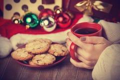 曲奇饼,咖啡 图库摄影