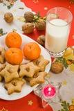 曲奇饼s圣诞老人 库存照片