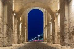 曲拱从里面的金门视图 免版税库存照片